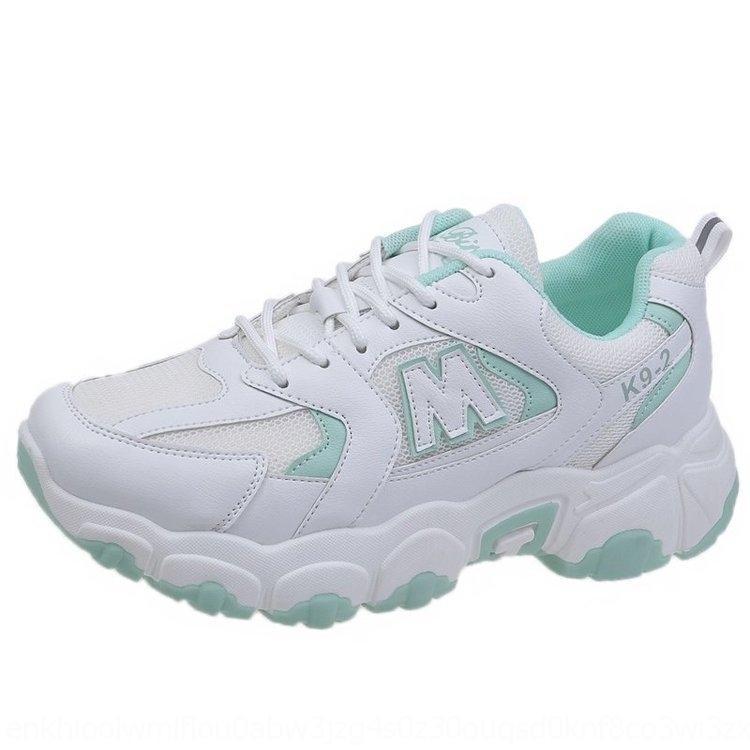 Papà gli studenti coreani femminili scarpe stile di sport gli sport shoesfashion cuciture Lace-Up 2020 pattini delle nuove donne di celebrità in linea autunno