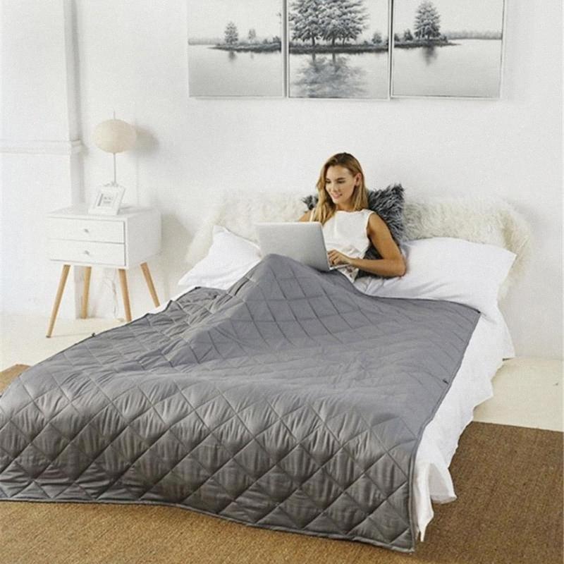 Neu 10.07 / 15/20 £ Cotton Die gewichteten Decke für Erwachsene Gravity Decken Dekomprimierung Druck Weighted Quilt CASI #