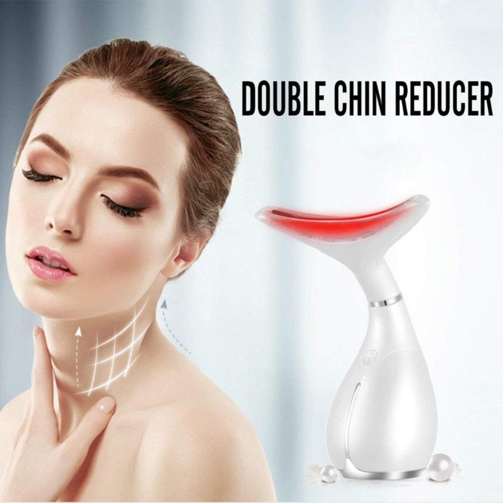 Mini RF Transmission du cou Soins de la peau Vibration Massager suppression des rides LED Photon Therapy Appareil de levage cou Machine de beauté