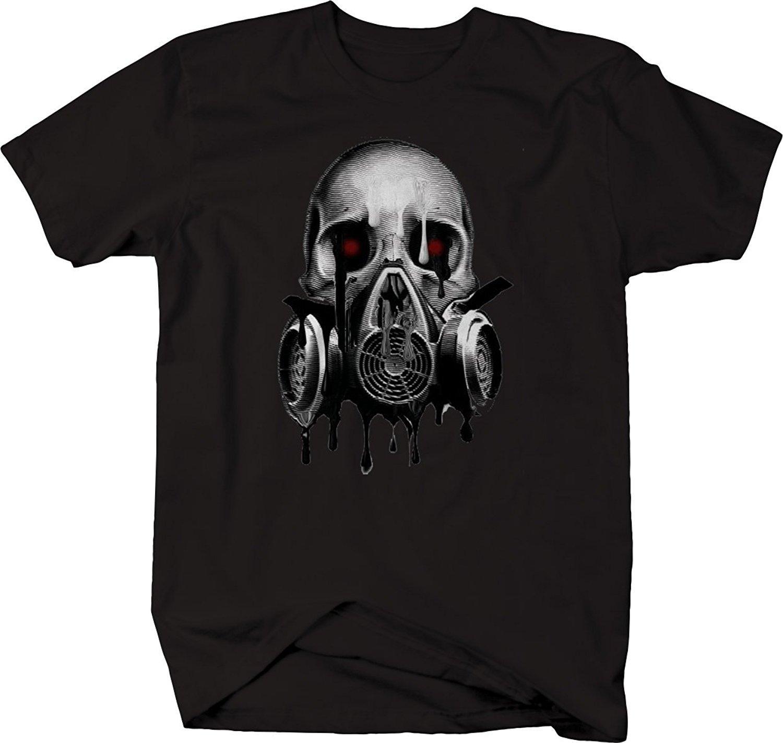 2020 Hot Venda Moda de fusão máscara de caveira Gas olhos vermelhos do sangue T-shirt Camiseta