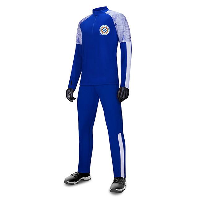 Montpellier HSC FC Uomo Bambini all'ingrosso tuta sportiva di calcio di calcio Imposta Giacca manica lunga preparazione invernale caldo Sportswear