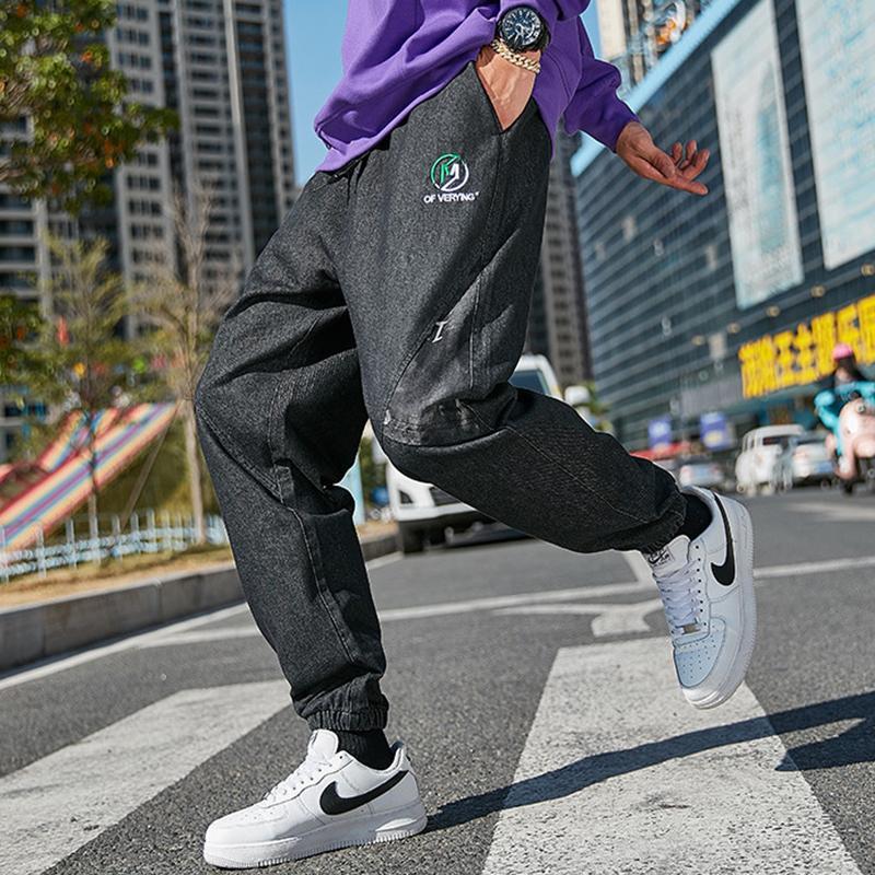 2020 neuer Winter-Street Baggy Jeans Men Joggers Haremshosen knöchellangen Plus Size Denim Cargo Pants