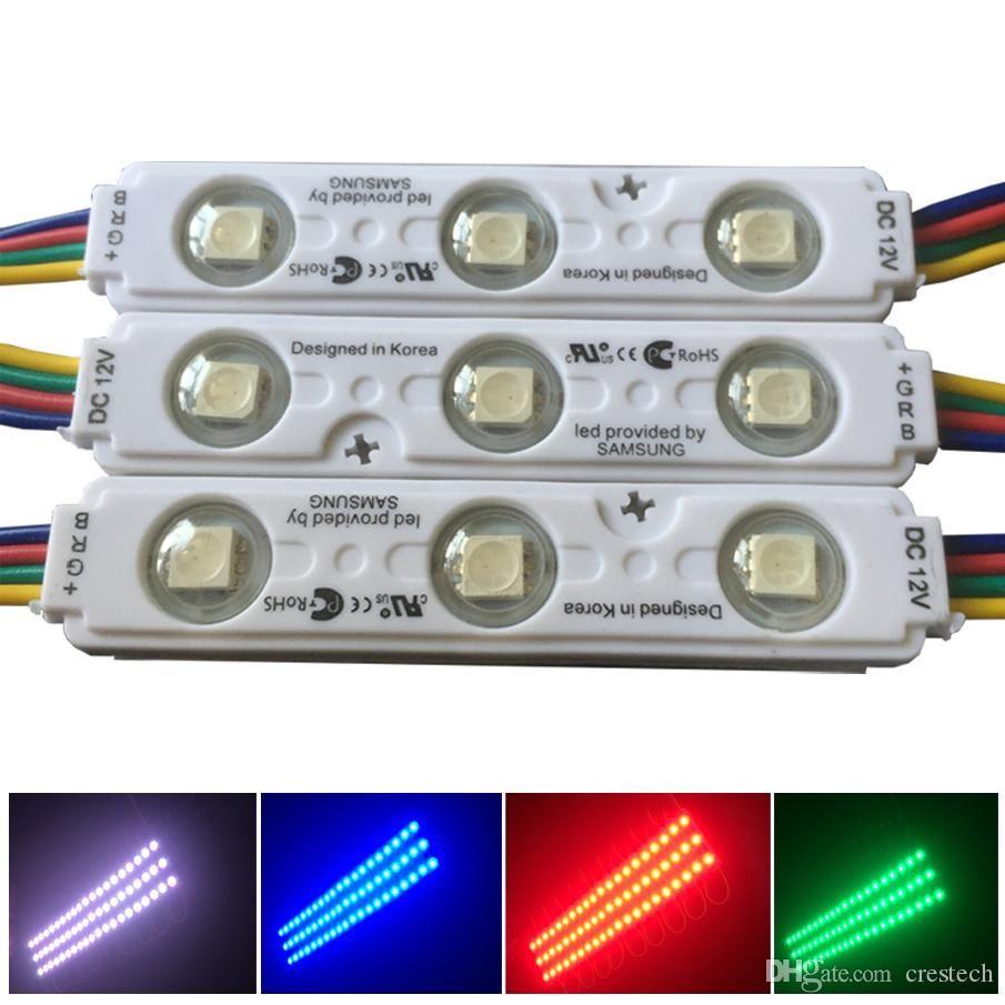 Merceği DC12V su geçirmez IP65 Modülü Işık ile Colorfull RGB SMD5050 Led Modül Işık 3led Siyah RGB Enjeksiyon LED Modülleri