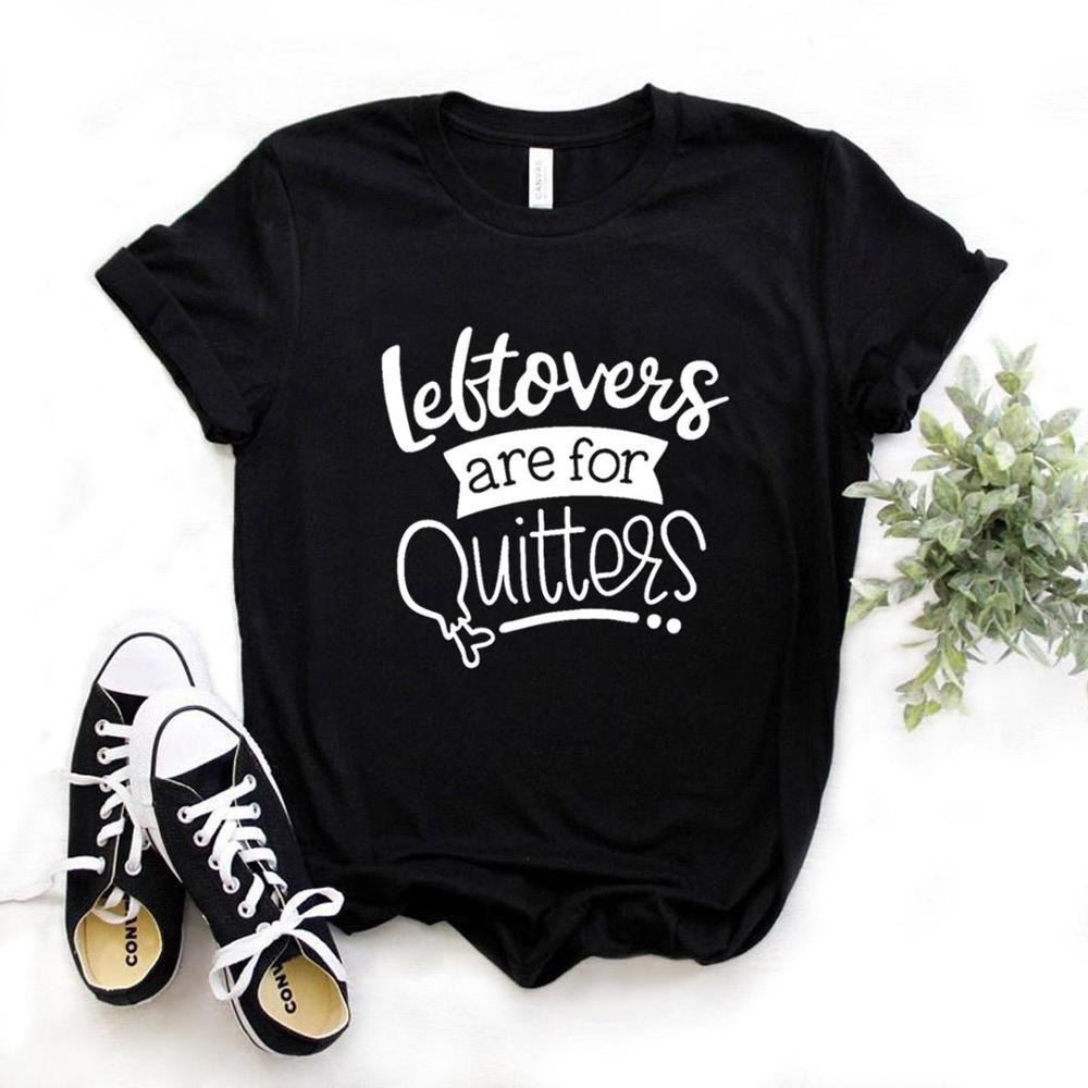 Overs sind für Quitters Frauen T-Shirt Cotton Hipster Lustiges T-Shirt Geschenk-Dame Yong Mädchen 6 Farbe Spitze T ZY-603