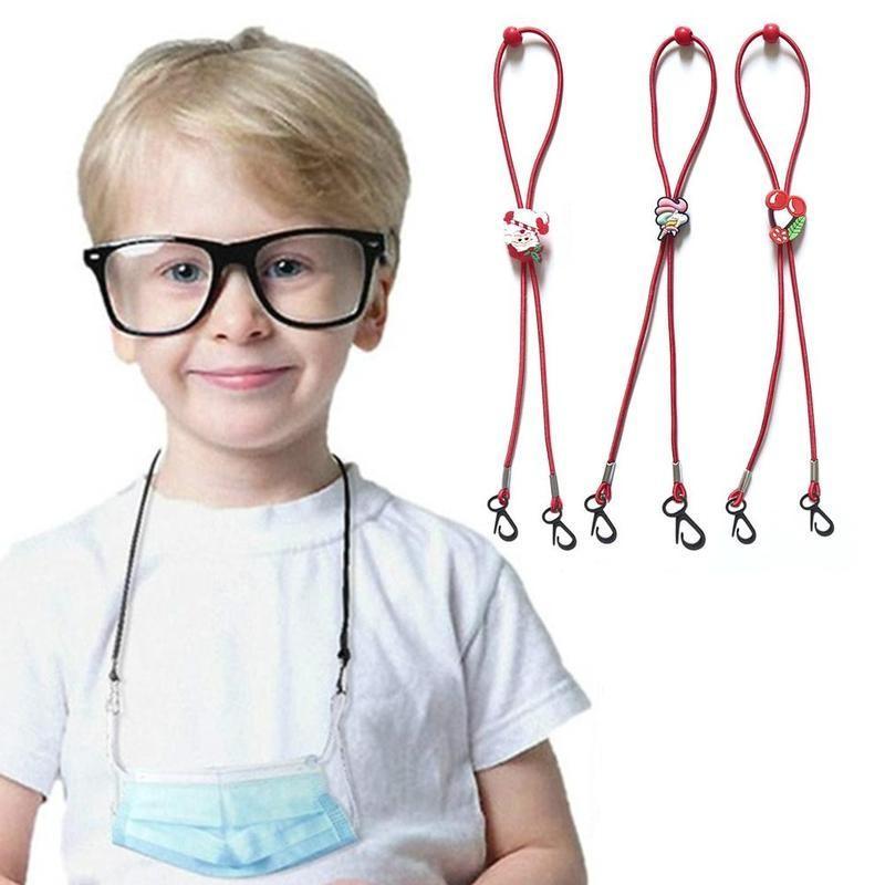 Face Mask Anti-lost Neck Lanyard Christmas Cartoons Adjustment Buckle Holder Rop For Adlut Kids Masks Anti-drop Hanging Rope