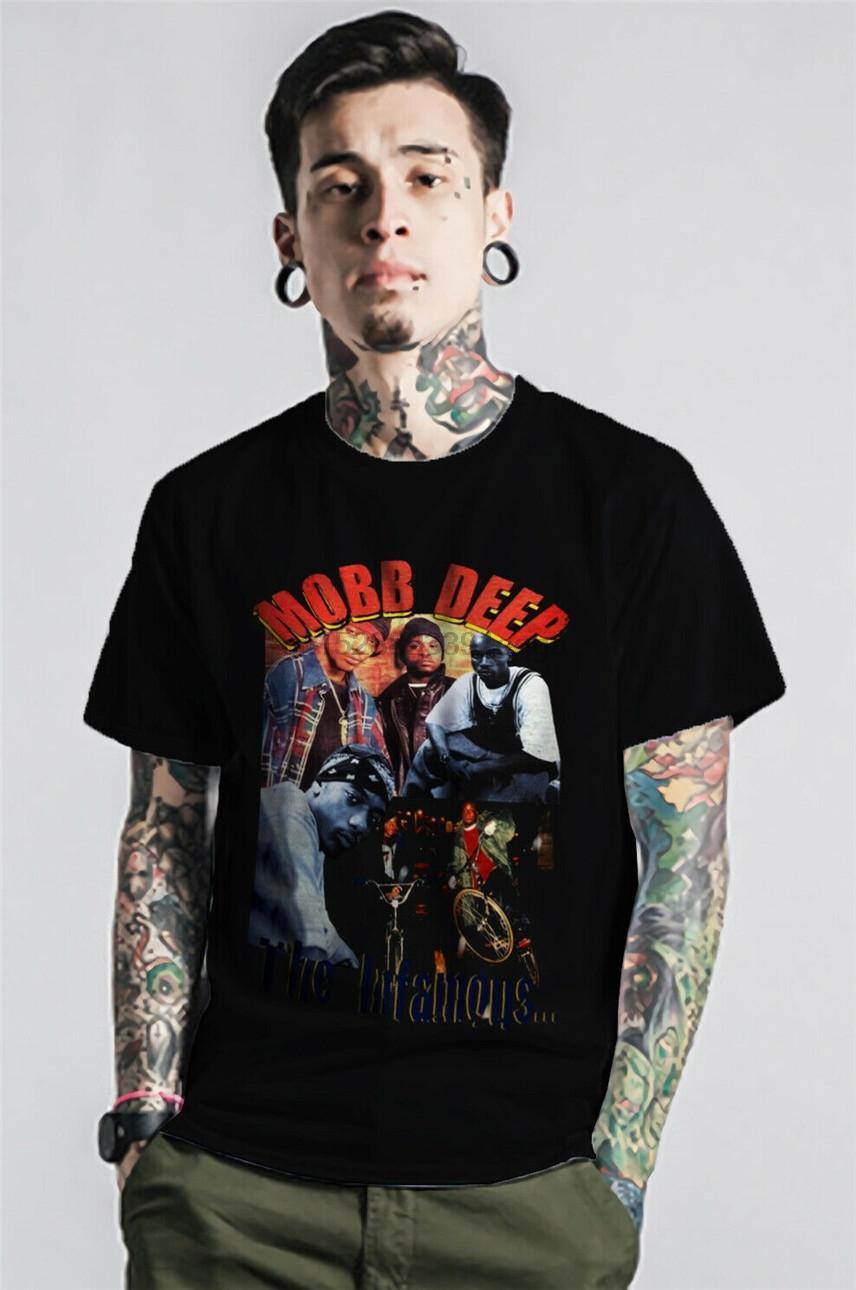 Mobb Deep Tişörtlü The In Ünlü Vintage Hip Hop Rap Exclusive Vintage Giyim Yeni Unisex Komik Tee Gömlek