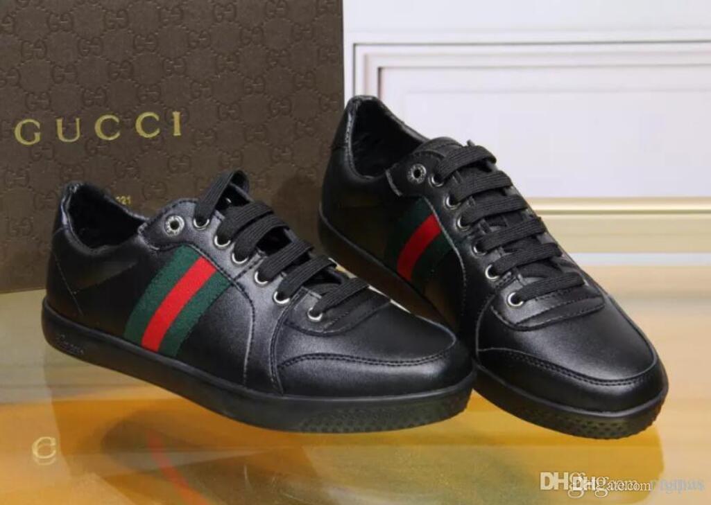 2020 calçados casuais do desenhador dos homens sapatos casuais mens branco sapatilhas dos homens avançados sapatos de couro genuíno materiais nenhuma caixa