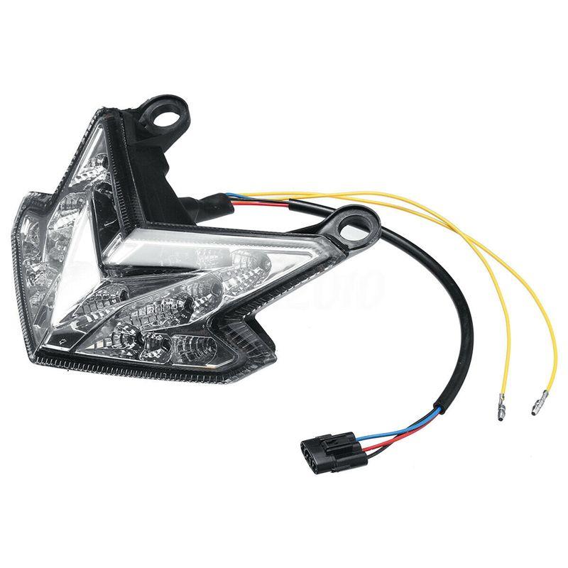 오토바이 통합 후면 테일 브레이크 라이트 LED 닌자 ZX6R / Z800 / Z125에 대한 신호 라이트를 켜고