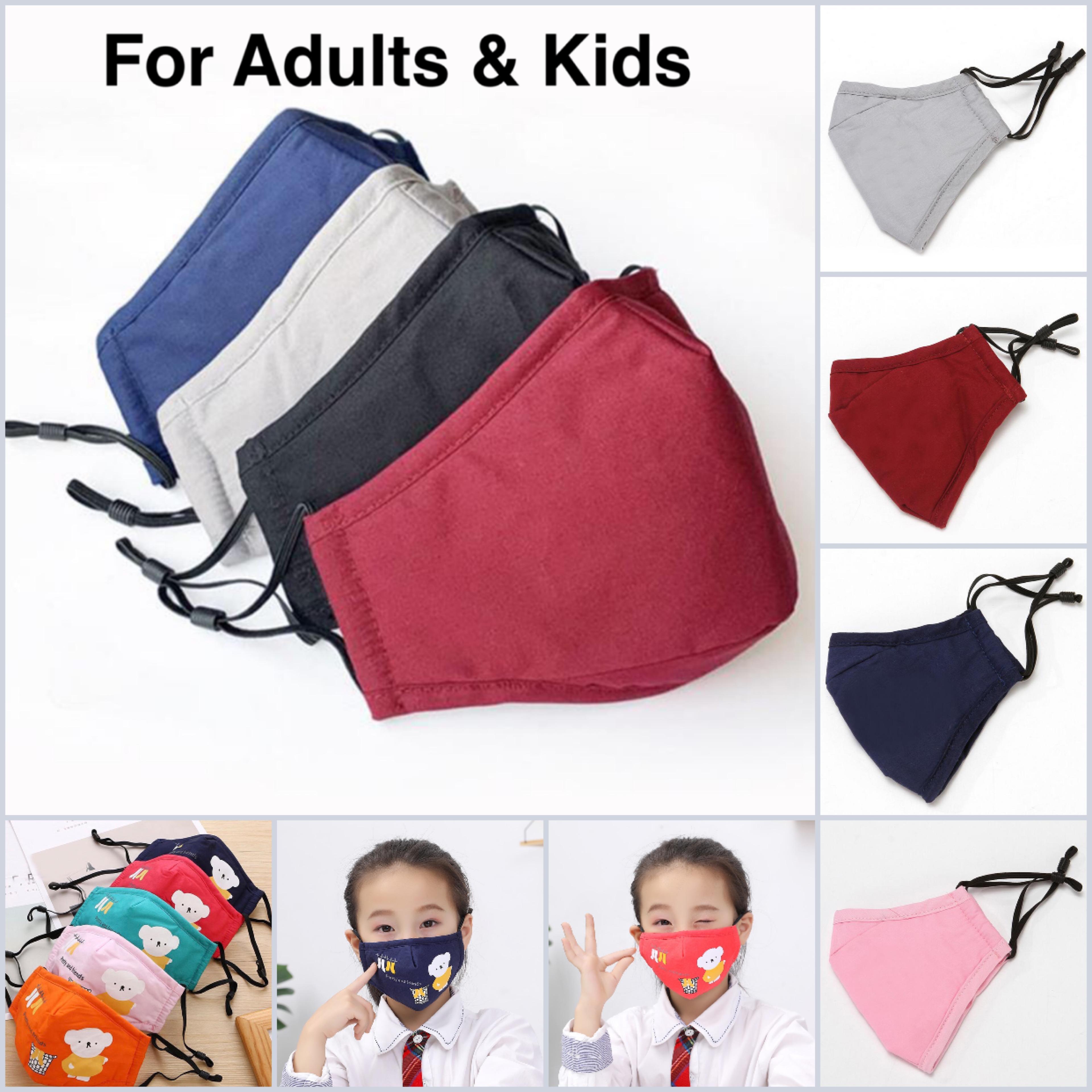 DHL enfants / adultes cyclisme lavable protection anti-poussière anti-poussière de coton masque unisexe pour hommes femmes cyclisme masque de dessin animé