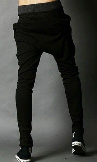 Erkekler Koreli erkekler rahat spor spor moda düşük dereceli podyum rahat pantolon pantolon K02 PlZHv