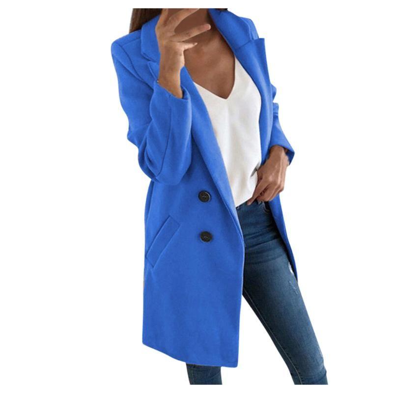 Женщины Surd Wearwear зимнее шерсть пальто с длинным рукавом.