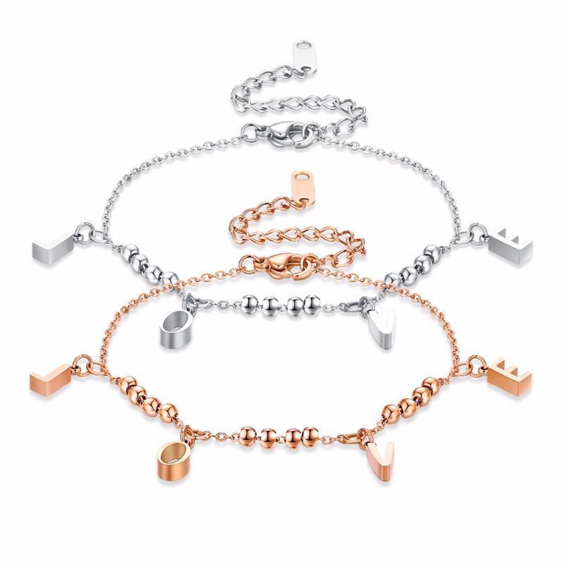 Gioielli hion lettera d'amore del braccialetto fascino delle donne della Rosa del partito di cerimonia nuziale dell'oro del regalo degli accessori superiore 3-GS911