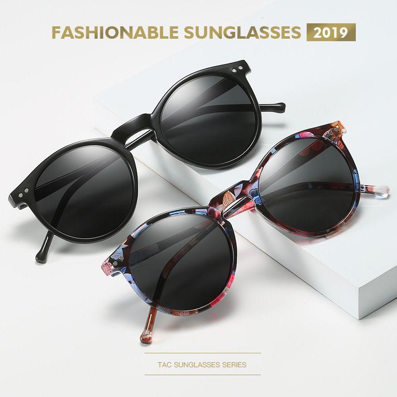 Mulheres Clássicas Óculos de Sol Polarizado Goggle Condução Rodada Sol Sol Óculos Sol Homens Masculinos Feminino UV400 Tons Gafas Retro de Oculos VTGLQ