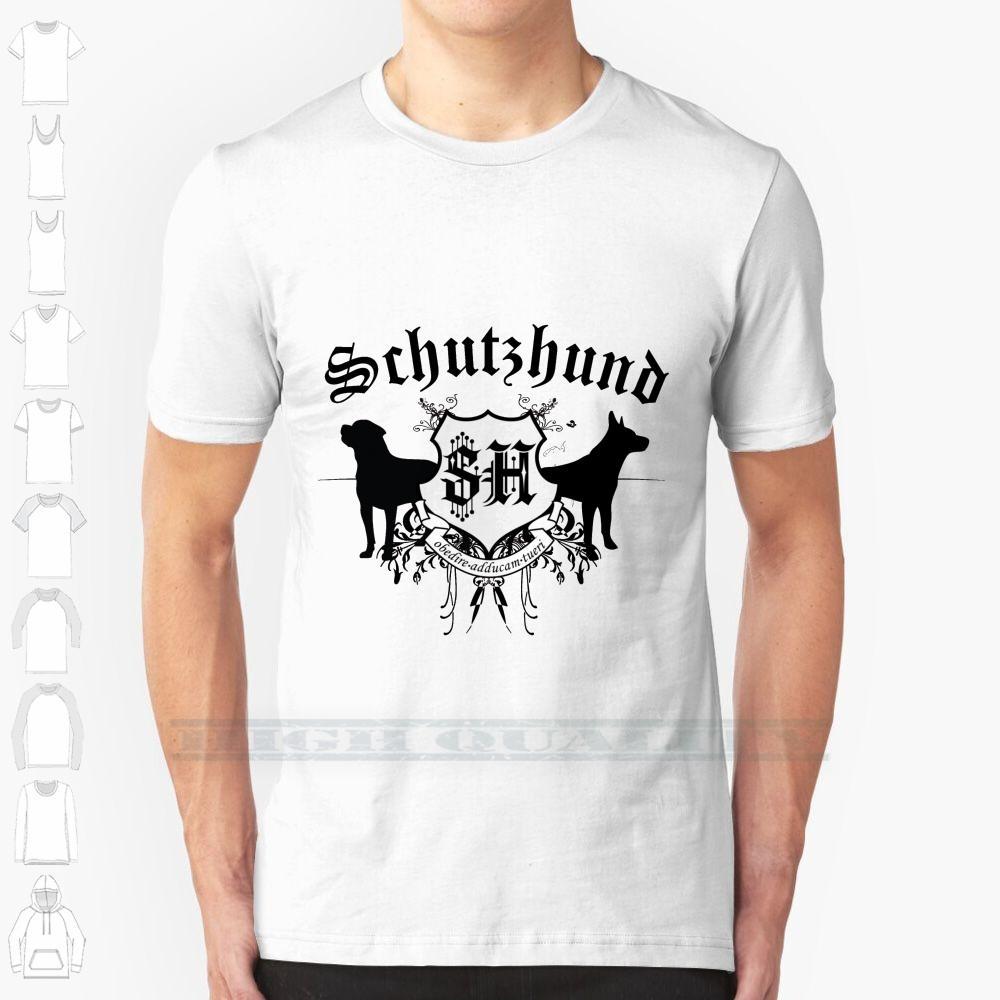 Schutzhund Mit Rottweiler Und Gsd Projete de impressão Para Homens Mulheres Cotton novo fresco T Camisetas Tamanho Big 6xl Gsd