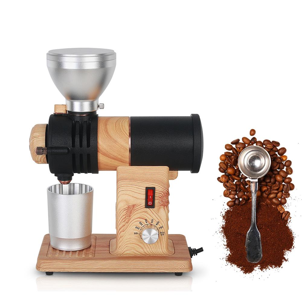 Itop elektrische Kaffeemühle Edelstahl Amerikanische Kaffeebohnen Schleifmaschine Einstellbare Geschwindigkeit mit Luxusaluminiumbecher