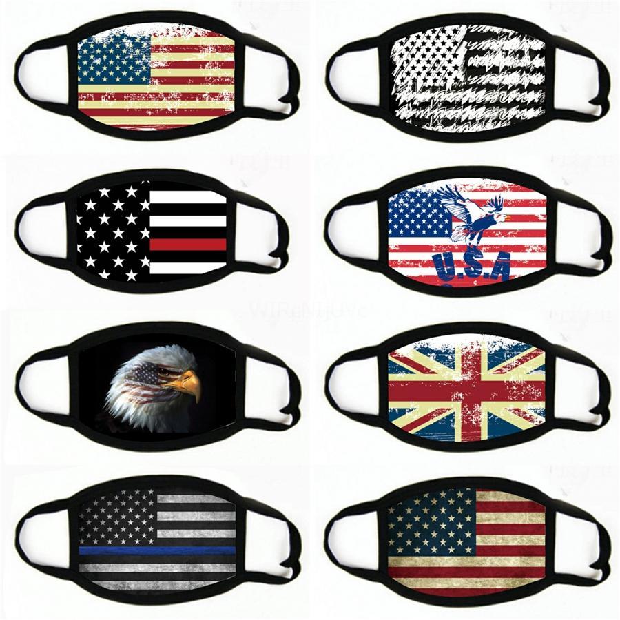 Mascarilla de la cara de la bandera de la bandera a prueba de polvo Mascarillas protectoras ajustables de algodón con máscaras de adultas yya230 # 644 vxcqb