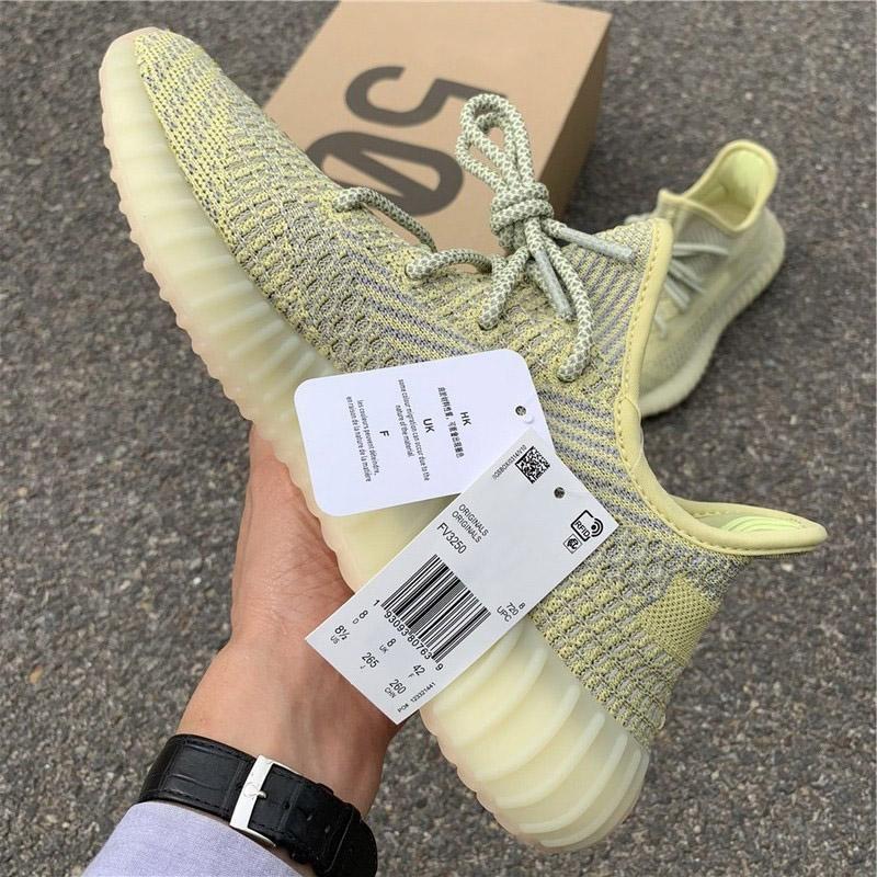 En Yeni Sıcak Satış V2 Pompa Lundmark Synth Yansıtıcı Erkekler Kadınlar Koşu Ayakkabı Tasarımcısı Kanye West Otantik Spor Sneakers ile Orijinal Kutusu