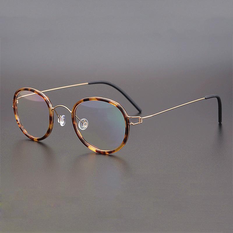 Vintage-Brillen-Rahmen Männer Frauen Azetat Runde Brillen Mann Optische Myopie Brillen Frames Brillen Brille Klar Oculos