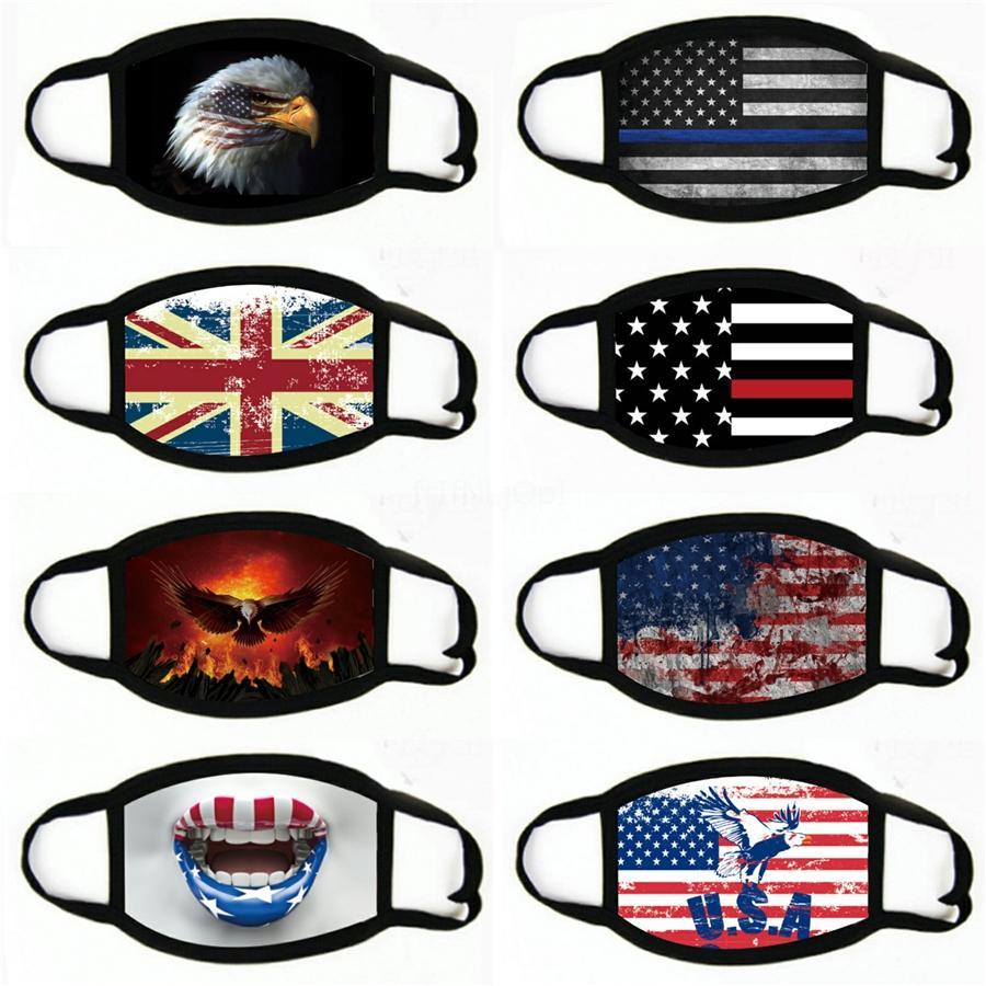 Amerikan Bayrağı Giysi S Yüz ve tekrar toz geçirmez Yüz Maskesi # 235 Maske