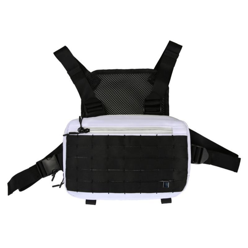 Tactical Chest Rig Bag Streetwear Unisex Hip Hop Chest Bag Harajuku Function Black Vest Adjustable Waist Pack Kanye West