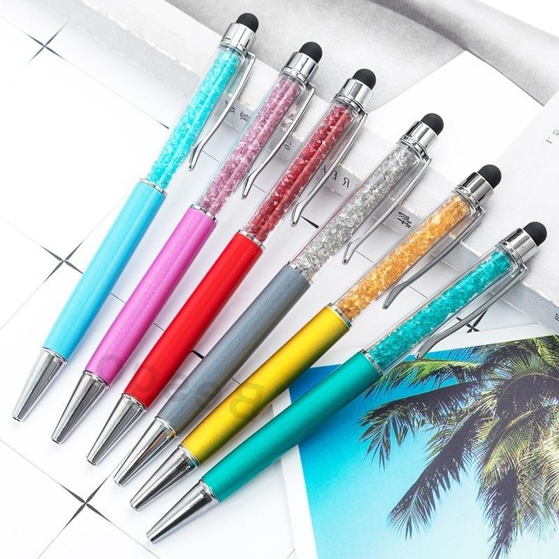 Fino cristal caneta esferográfica de 1 milímetro caneta de toque Moda Criativa Stylus Writing Stationery Office Escola Ballpen Preto canetas esferográficas