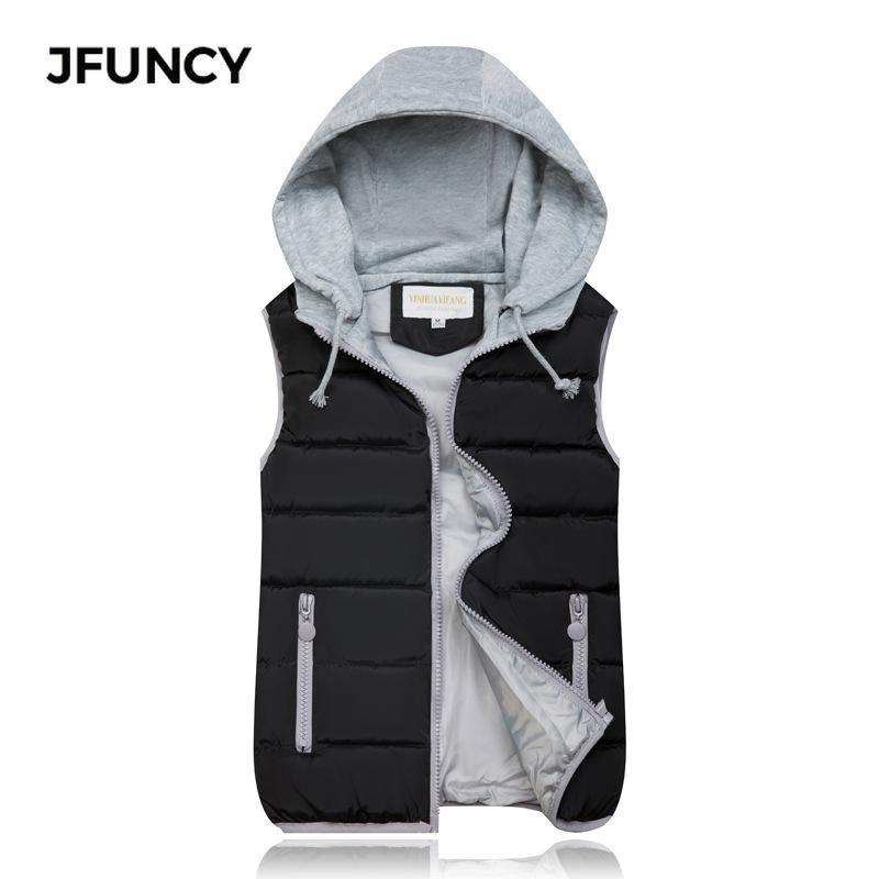 JFUNCY 2020 Kadınlar Yelek Kış Kolsuz Ceket Plus Size Kadın İnce Yelek Kadın Casual Yelek M-XXXL ısıtın rüzgar geçirmez