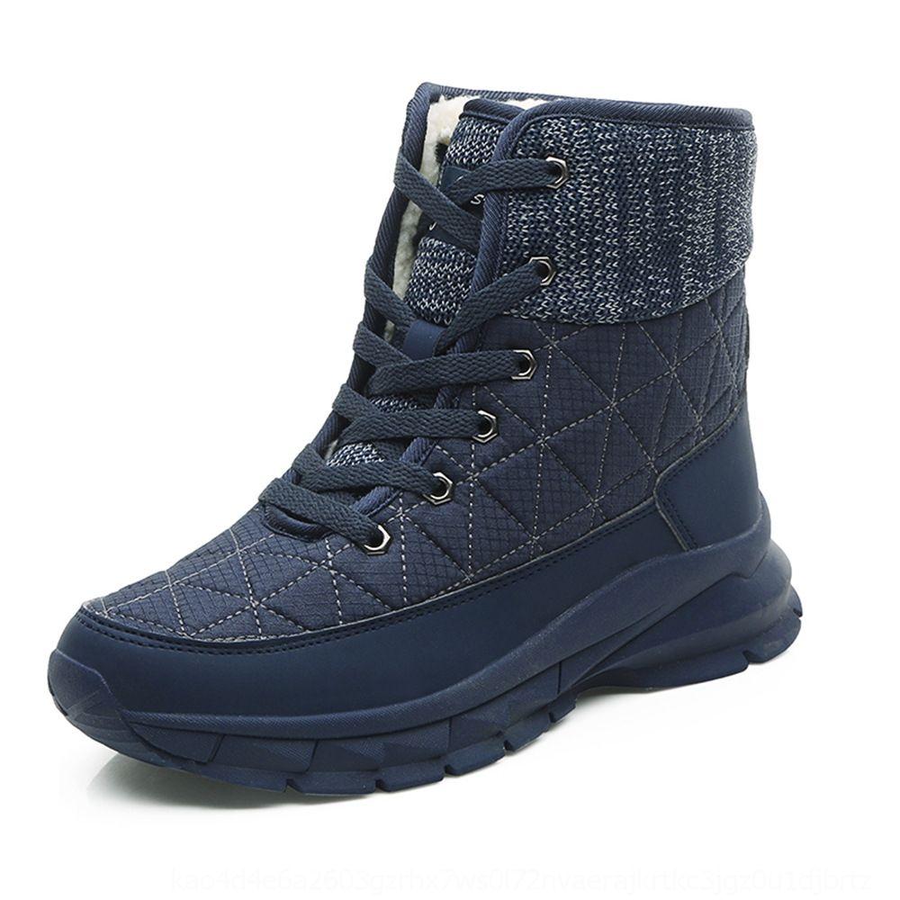 Kadın artı kadife sıcak Sıcak bootsSnow botlar kar botları kalın yün büyük boy kadın ayakkabıları 41 boy kış Yeni tmswe