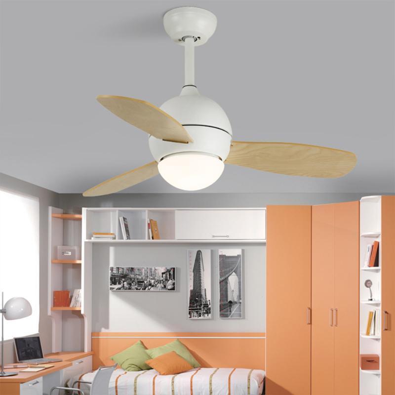Ventilateurs électriques Nordic Plafond Ventilateur de ventilateur Télécommande avec lumières 42 pouces Refroidissement 220V AC Multi couleur pour la chambre des enfants