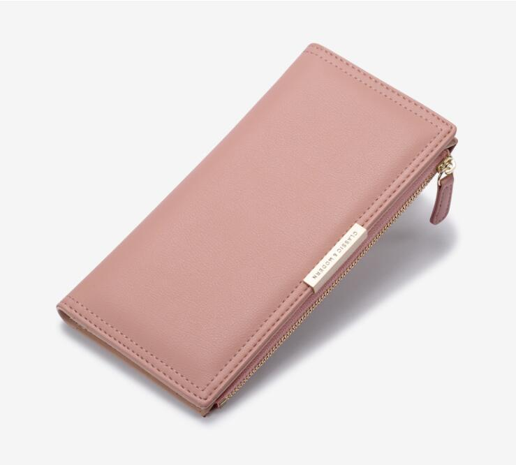 torba kadınların Cüzdan Çanta bayan çantasına fermuar Sıcak satış Kadın uzun çoklu kart