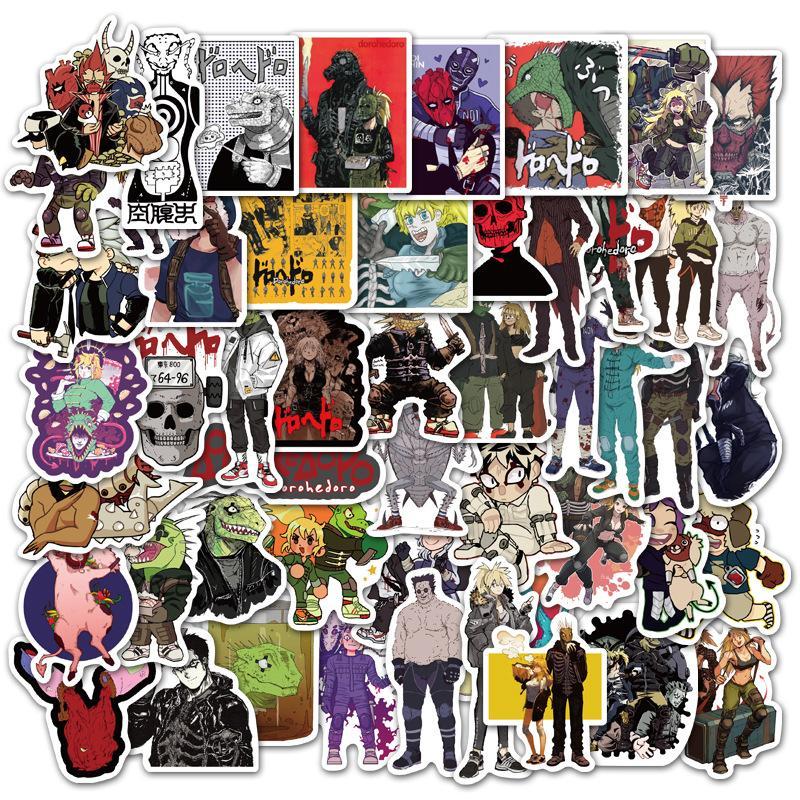 2020 caldo-vendita, la moda, 50 giapponesi mostri anime aliene adesivi graffiti personalizzato adesivi bagaglio stickers notebook per bambini