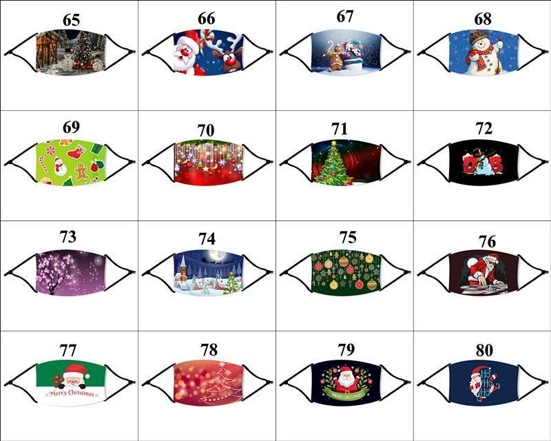 (112)는 크리스마스 얼굴 DHL 마스크 1 개 필터 크리스마스 패션 재사용 먼지 파티 산타 클로스 엘크 남성 여성 입 마스크 마스크 디자인