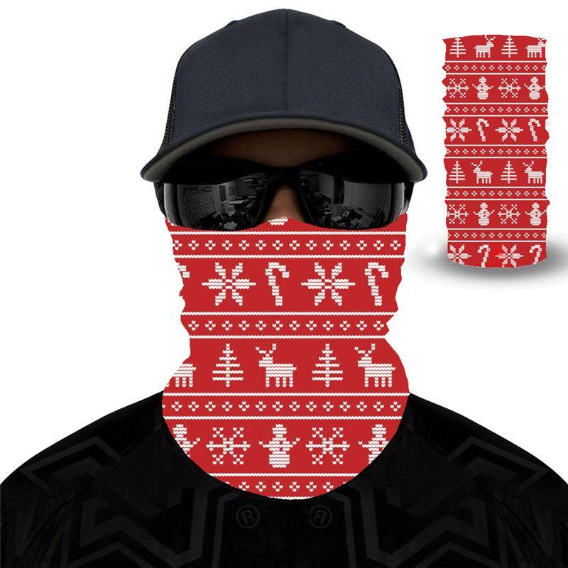 Sport im Freien Multifunktionsstirnband Magic Christmas Halloween-Gesichts-Schal einen.Kreislauf.durchmachenreiten Masken Warm Nickituch-Party-Zubehör