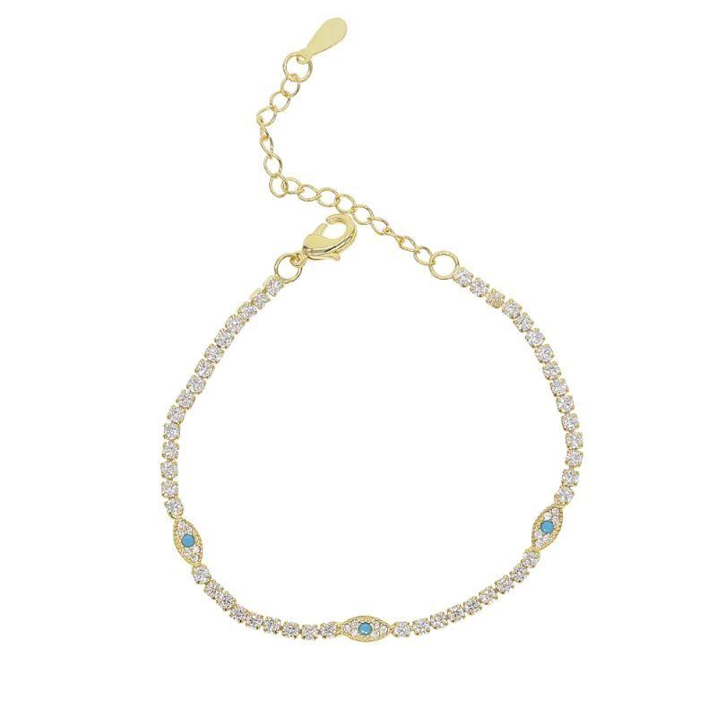nova cz arco-íris delicado manguito pulseira olho sorte pavimentada pequena faísca pedra brilhante CZ para as mulheres simples jóias de partido