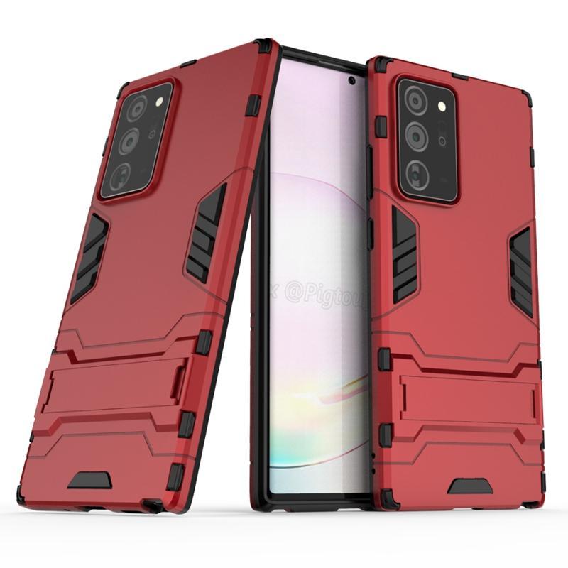 Hybrid Kickstand Anti Shock Defender Armour Case TPU + PC Cover för Samsung Galaxy Note 20 plus 50pcs / parti