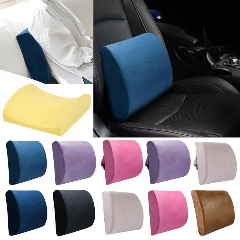 Car Memory Foam Breathable Healthcare Lumbar Cushion Back Waist Support Travel Pillow Car Seat Home Pillows Relieve Pain 27
