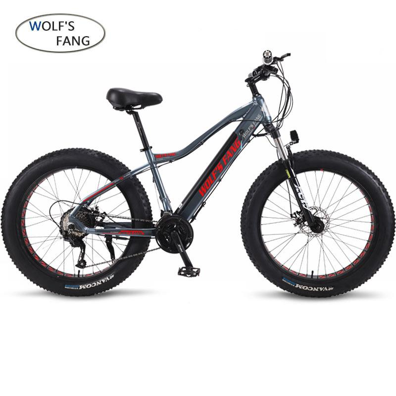 wolf's fang Electric Bike 48V 500W Motor 10 Ah 27 speed Aluminum Folding Electric Bicycle hidden lithium battery electric bike