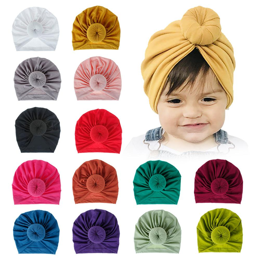 Baby Accessories for Newborn Toddler Kids Baby Girl Boy Turban Cotton Beanie Hat Winter Cap Knot Soft Hospital Caps Headbands for Girls