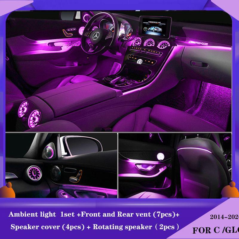 Mercedes benz C GLC sınıfı C260 GLC C180 sınıfı için W205 için 3/12/64 renkler Ortam ışığı lambası Yükseltme