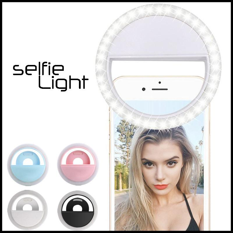 أرخص صورة شخصية LED حلقة الضوء RK12 RK12 ضوء فلاش مصباح كاميرا التصوير مع USB كابل شحن محمول لفون سامسونج