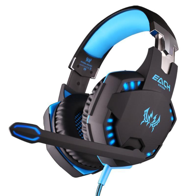 Alta qualità Ogni funzione G2100 gioco cuffie vibrazioni auricolare con microfono stereo Bass auricolare luce del LED per 3colors pc portatile