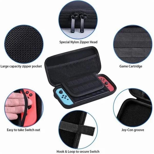 16 in 1 For Switch Accessories Kit Switch Case Silicon Protective Case Transparent Case Screen Saver Caps For Joystick DHL Free