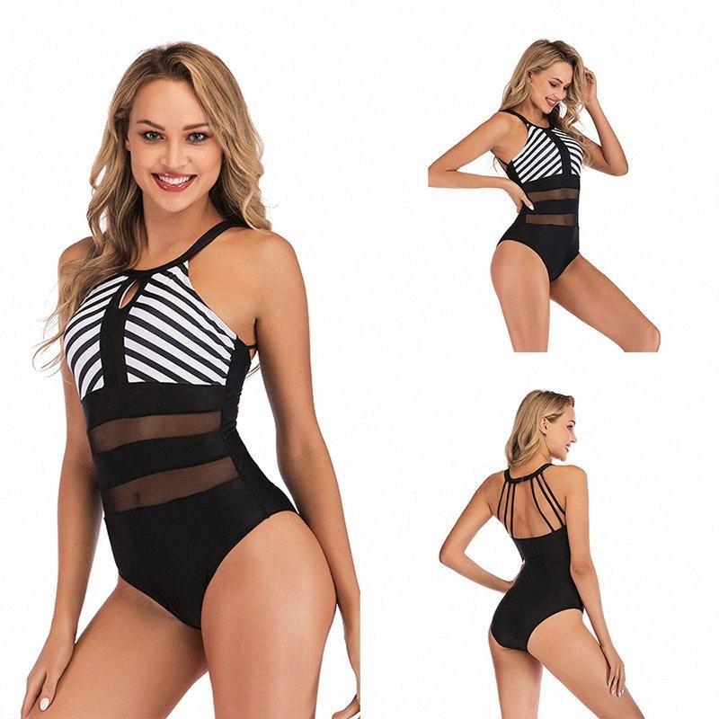 un pezzo costumi da bagno di alta qualità delle donne stampato con Monokini costumi da bagno vestito, corpo tropicale donna costume da bagno sexy push-up con ferretto gpnX #