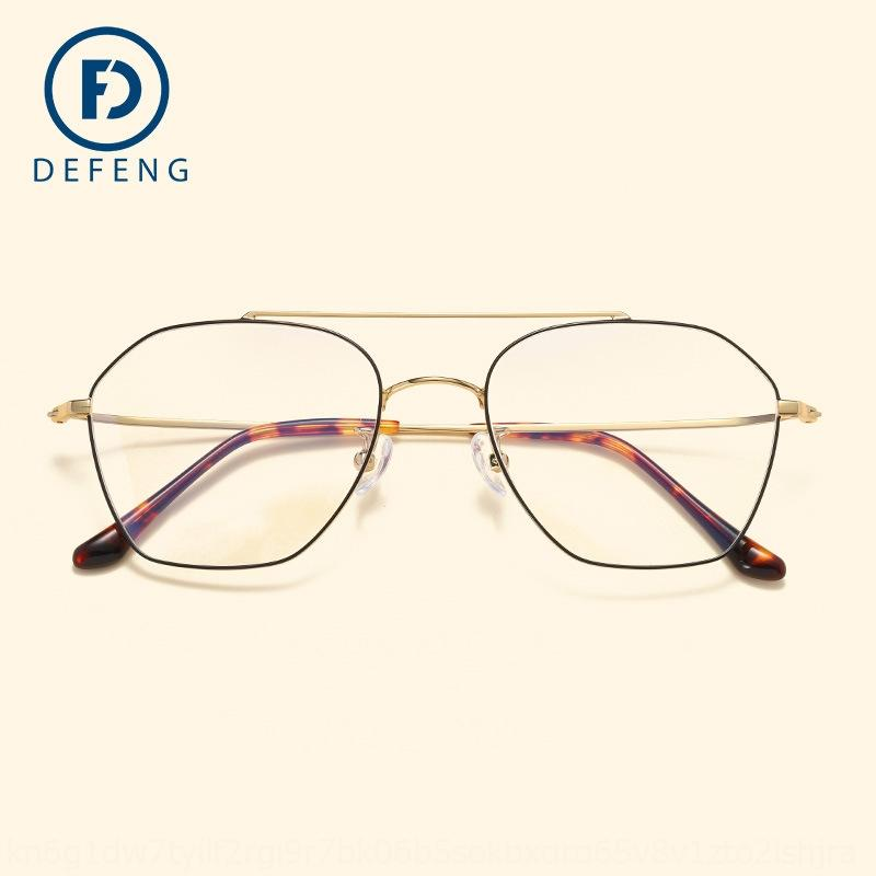 BZz77 1822 reine Titan Ebene der Frauen ultraleichter Speicherrahmen Kurzsichtigkeit Myopie Brille Herren-Mode Full-Frame kickpolygon Brille