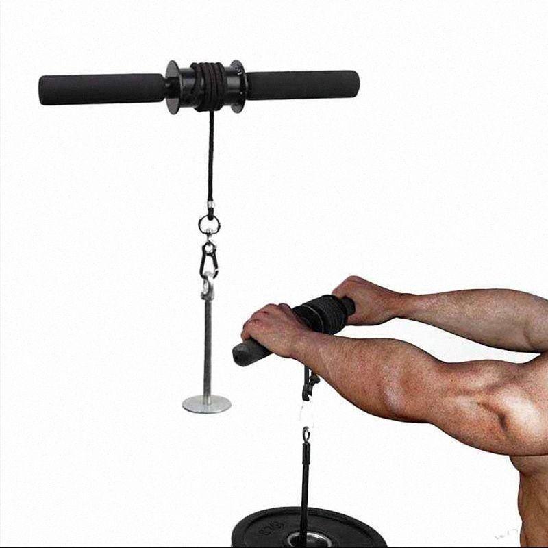 Palestra Fitness Bicipiti avambraccio Trainer Braccio tricipiti Blaster polso Power Roller Sollevamento pesi corda Gripper adduttori Attrezzature Fn7w #
