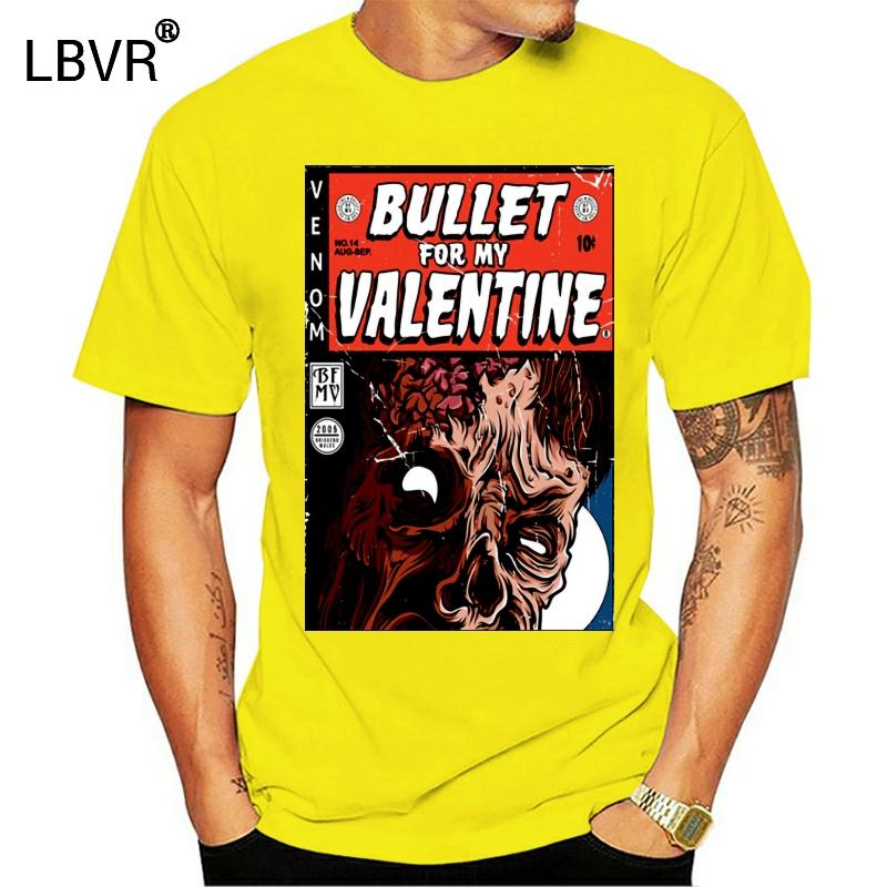 Bullet For My Valentine Comic Book Cover Black T Shirt Новый BFMV