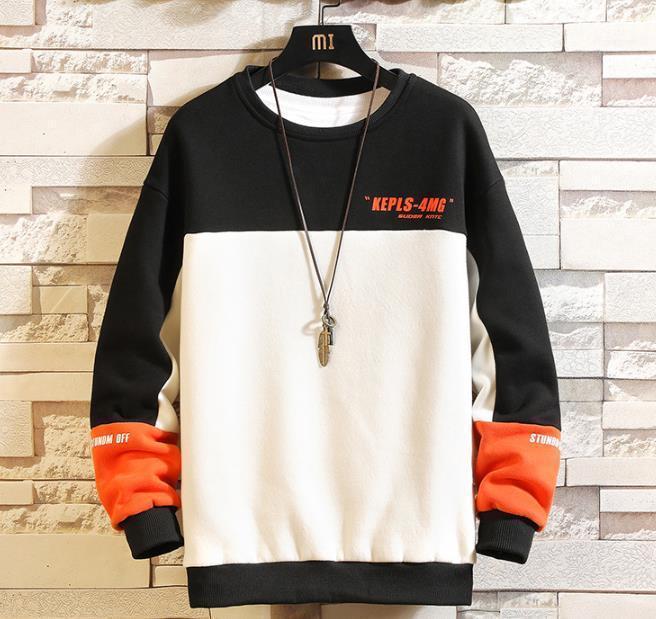Sweatshirts Männlich Kleidung Herren Designer Crew Neck Pullover Buchstabedruck Hoodies Langarm Multi Color Panelled