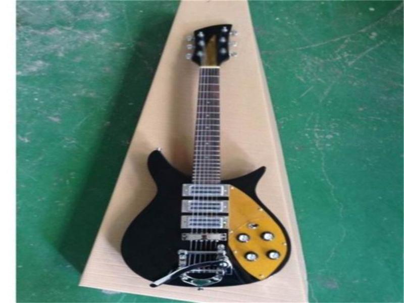 Richen elektro gitar 3 alıcıları ile Guitara Fretboard Gülağacı Fabrika toptan Custom 6 dize donanım Ücretsiz kargo krom