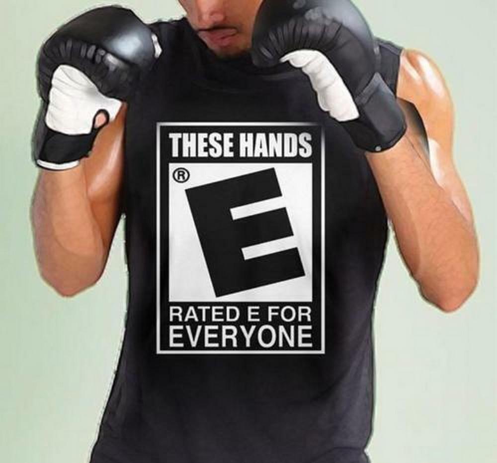 Эти руки оцененных E Для каждой тенниски черного хлопка Мужчина S-3XL Сделана в США Фитнес Tee Shirt