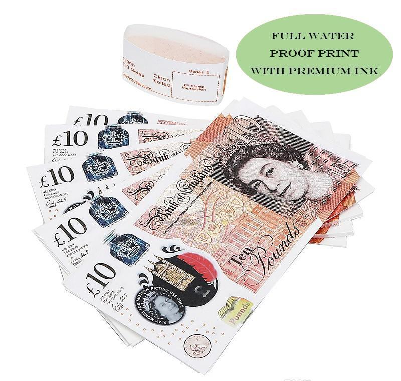Para Kağıt Prop Uk Kopya Para 100pcs / Banknot Prop En yxlhK hJ2009 Pretend paketi