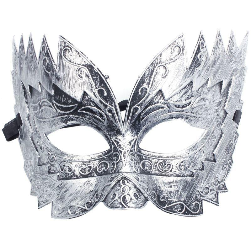 Ball Fashion-1 Pcs Mask Men's Masquerade Masks Stag Party Fancy Dress Venetian Eye Face Sawtooth Carved Silver